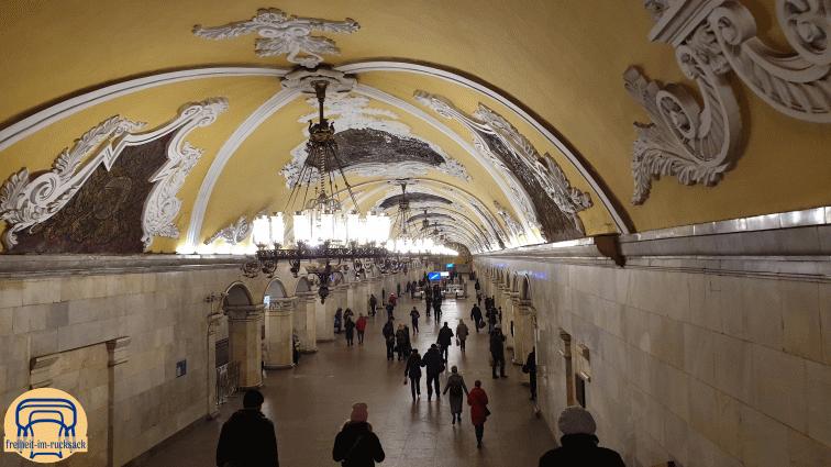 die Moskauer U-Bahn