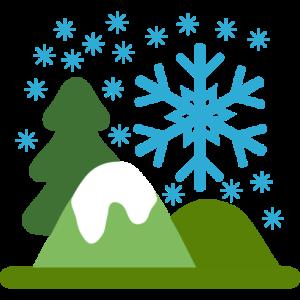 Winterlandschaft mit Schnee und Bergen