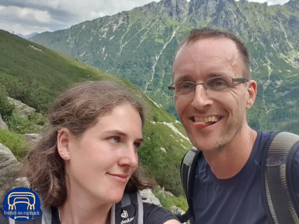 Wir zwei im Nationalpark Hohe Tatra (Polen)