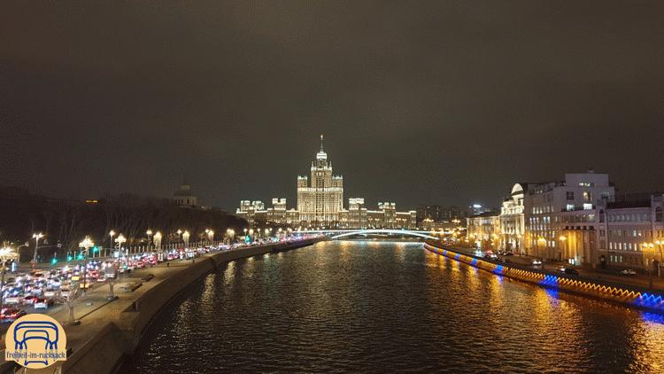 die Aussicht von der flying bridge in Moskau