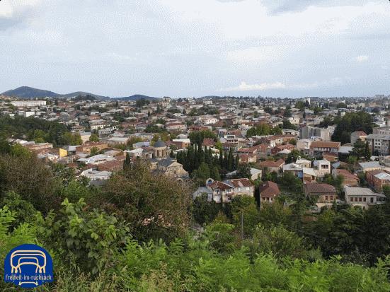 der Ausblick von der Begrati Kathedrale in Kutaisi