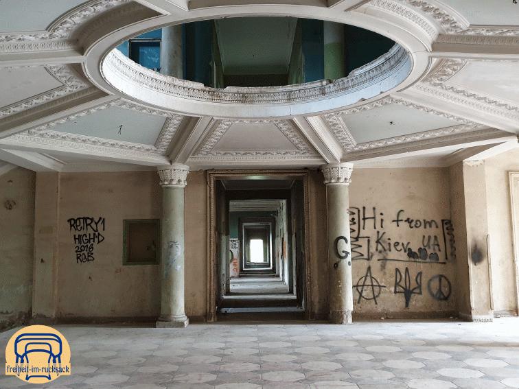 der Eingangsbereich des Sanatoriums Iveria
