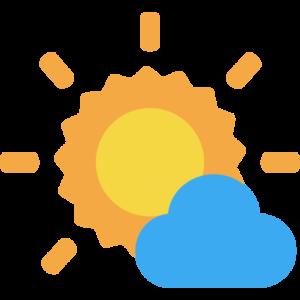 Sonne mit einer Wolke